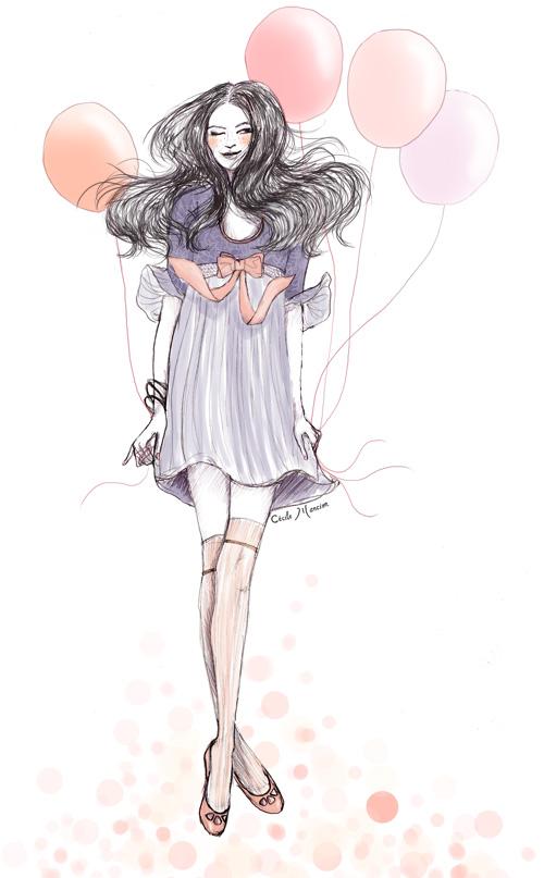 Dessin inspiré par The Cherry Blossom Girl