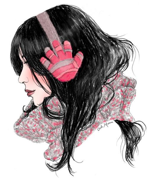 Cache-oreilles gants de bébé