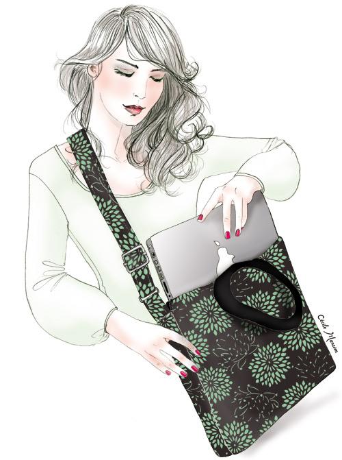 Illustration pour l'étiquette des Zazie's bag